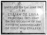 Commemorative plaque - Gipsy Hill's 50th anniversary