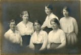 Group photo - six students, 1918-19