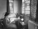Student reading in a Study Bedroom