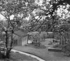 Gipsy Hill buildings and grounds with blossom trees