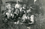 Index card 1919 - Student picnic