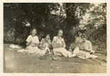 Brown envelope - Five students having a picnic