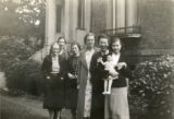 Index card 1937-1938 - Six students and a doll