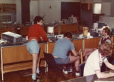Display boards and general publicity 1970s - Students in Sports Science Lab