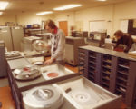 File: College life 1970s - Student using data processing equipment
