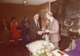 John Maher retirement - John Maher and Len Lawley shaking hands