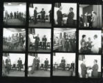 Unlabelled sleeves & Loose photographs - Contact Sheet - Staff event