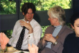 Unlabelled sleeve - Guests at a meal - includes Kath Start, Faculty of Health and Social Care Sciences (second from left)