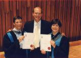 File: Business Graduation - Group including Margaret Hennessy