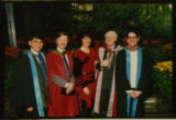 File: Science Graduation - Contact sheet strip - Academics and guests (image 36 from Box labelled Graduation Ceremonies and Awards; No 5)