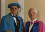 File: Miscellaneous Graduations undated - Academics including Reg Bailey (left)