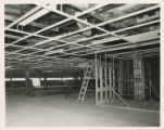 File: Archives photographs (from store); Kingston Hill, building of library - Interior under construction