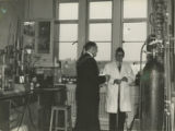 File: Archives photographs (from store); Staff - Mayor William J. Marshall and academic in a science/engineering lab