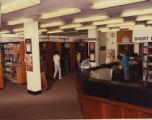 File: Kingston Polytechnic Photographs 1960s onwards - Library - Short Loan and Lending desks