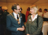 Opening of Kingston Bridge House - Kingston Borough official (possibly Deputy Mayor) and guest