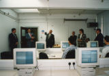 Unlabelled sleeves - University event - Guests including Frank Lampl and Robert Smith in computer suite