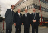 Roehampton Vale opening - Sir William Barlow and guests outside the campus