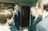Norman Lamont visit - Norman Lamont and guests
