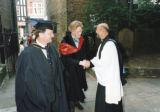 Kingston University Inauguration - Rector of All Saints Church greeting academics