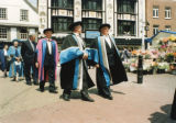Kingston University Inauguration - Academics, including Robert Smith, in the market place