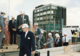 Construction of science building - Group including Mayor Jane Smith and Professor the Lord Lewis of Newsham