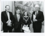 Reginald Brill Retrospective - Group including Robert Smith and (possibly) Jean England, Deputy Mayor of Kingston