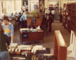 File: Kingston Hill Library, Summer 1982 - Students and the Library Registration desk